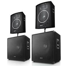2.2 DJ PA SET SYSTEM SPEAKERS SUBWOOFER SPEAKER STUDIO COMPLETE SYSTEM 3200W