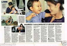 Coupure de presse Clipping 1986 (2 pages) Bambou et Lulu Gainsbourg