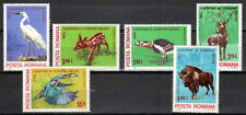 Romania 1980 MNH 6v,Birds, Stork, Animals, Deer
