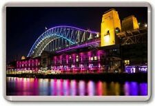 FRIDGE MAGNET - SYDNEY HARBOUR BRIDGE - Large Jumbo - Australia Rainbow Colours