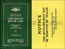 1931 Chevrolet Car Owners Manual with Envelope Chevy Owner Guide Book