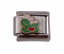 Mum and baby frog Italian Charm - classic 9mm link   (V16)