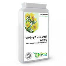 Evening Primrose Oil 1000mg 90 Capsules Supports Hormone Balance, Skin, Joints