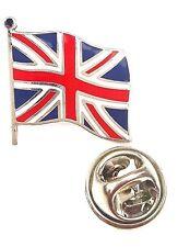 Union Jack Wehende Flagge Großbritannien Emaille Reversnadel Abzeichen T642