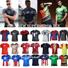 Mens Superhero Costume Marvel Sports T-Shirts Running Cycling Casual Tops Jersey