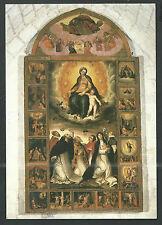 image pieuse postale Virgen del Rosario card santino estampa