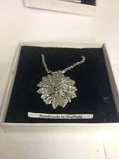 Green Man PP-G76  Emblem on Silver Platinum Plated Necklace 18""