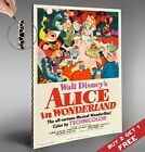 ALICE IN WONDERLAND DISNEY 1951 Movie Film Poster *A4 Vintage Glossy Photo Print