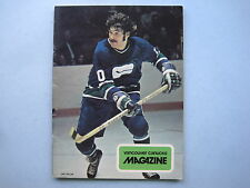 1973/74 VANCOUVER CANUCKS VS TORONTO MAPLE LEAFS PROGRAM DOUG FAVELL DUNC WILSON