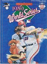 1989 World Series Program, Near Mint Condition.