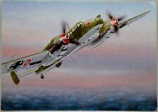 Cartolina Aviazione - Aereo Messerschmitt Bf-110 C - Non Viaggiata