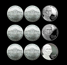 2011 2012 2013 P+D+S Jefferson Nickel Mint Proof Set & PD from Bank Rolls