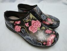 """Womens BOGS """"OLIVER"""" Black Floral Waterproof Work Clogs Shoes Size 7"""