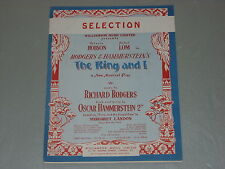 """Selection from """"The King And I""""   Sheet Music"""