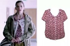 Pins And Needles British Detective Cosplay Print Blouse Top XS 6
