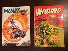 Valiant annual 1971 & Warlord for boys 1977