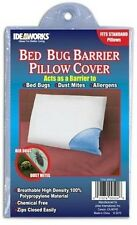 Set of 2 Zippered Bed Bug Barrier Pillow Covers Hypoallergenic Standard Size