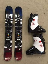 Snowblade Package, 90cm WIDE Ski Blades,Salomon bindings Head Boots