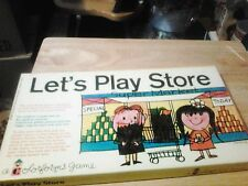 VINTAGE COLORFORMS LETS PLAY STORE PLAYSET UNUSED 1962 OLD STORE STOCK