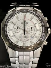 CASIO EDIFICE CHRONOGRAPH EF-540D-7A WHITE DIAL STAINLESS  STEEL CASE BRACELET