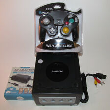 Black Nintendo GameCube Console Bundle System New Jet Black Controller & Hookups