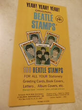 The BEATLES Original 1964 full book Hallmark stamps  MINT