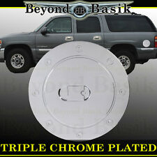 99-06 CHEVY SILVERADO Triple ABS Chrome Fuel Gas Door Cover Cap Overlay Trims