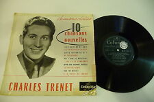 10 NOUVELLES CHANSONS 25 CM CHARLES TRENET. COLUMBIA 33 FS 1053.MADE IN FRANCE