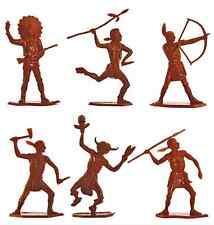 Dulcop American Indians on foot - 54mm unpainted plastic toy soldiers