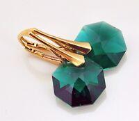 VERGOLDET *OCTAGON* 27 Farben Silber 925 - Ohrringe mit Swarovski Elements