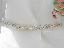 QVC-Diamonique 5.85 cttw Sterling Silver Tennis Bracelet 7 3/4""