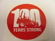 Gravely Zero Turn Lawn Mower 100 Years Strong Red Sticker