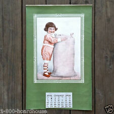 Vintage Original CHILD WITH FLOUR SACK Calendar 1926 Full 12-Month Pad NOS Old