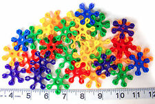 10 Plastic Starburst toy parts for making your own bird toys