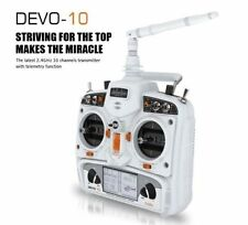 Hot Walkera DEVO 10 10CH 2KM 2.4Ghz Telemetry Function RC Transmitter White