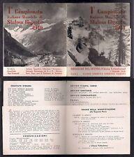 Depliant Pieghevole 1° Slalom Gigante Maschile 1949 Chiesa Valmalenco