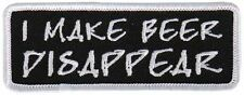 I Make Beer Disappear Motorcycle Uniform Patch Biker
