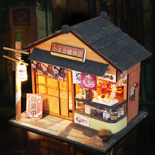 DIY Japanese Architecture Assembled Wooden Dollhouse Miniature Furniture Kit
