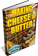 CHEESE & BUTTER MAKING - 76 VINTAGE BOOKS ON DVD - dairy, milk, cows