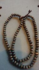 BUDDHIST PRAYER BEADS/MALA - BONE INLAID W/BRASS,CORAL,TURQUOISE  NWOT