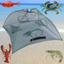 Foldable Fishing Bait Net Trap Cast Dip Cage Crab Fish Crawdad Shrimp HR