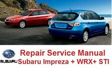 SUBARU IMPREZA 2008 09 10 2011 OFFICIAL SERVICE REPAIR MANUAL INCL. STI
