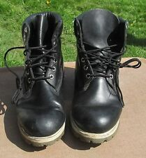 Mens Timberland Black Leather Work / Hiking Boots Size.11M  #27023 ~ Made in USA