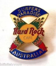 SURFERS PARADISE AUSTRALIA Surfboard Flame Hard Rock Cafe HRC PIN RARE