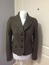 Women's Hobbs Tweed Wool Alpaca Blazer Jacket UK 10 Good Condition