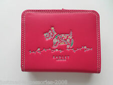 RADLEY - ROSEMARY GARDENS - TAB WALLET/ ID PURSE - BRIGHT PINK LEATHER - RRP £59