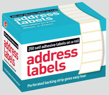 250 SELF ADHESIVE LABELS ON A ROLL 89MM  X 37 MM