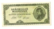 1946 Hungary Hyper Inflation 100.000.000 milpengo  / 100000000000000 pengo