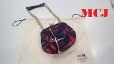 'New' Coach Poppy Tartan Sequin Frame Shoulder Bag 21214