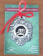 GETTYSBURG NATIONAL MILITARY PARK CANNON CHRISTMAS COMMEMORATIVE ORNAMENT NEW